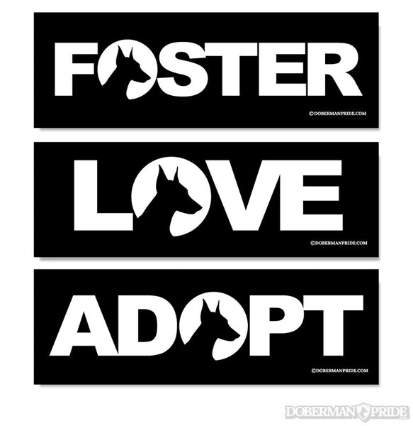 Love Foster Adopt Stickers - Cropped