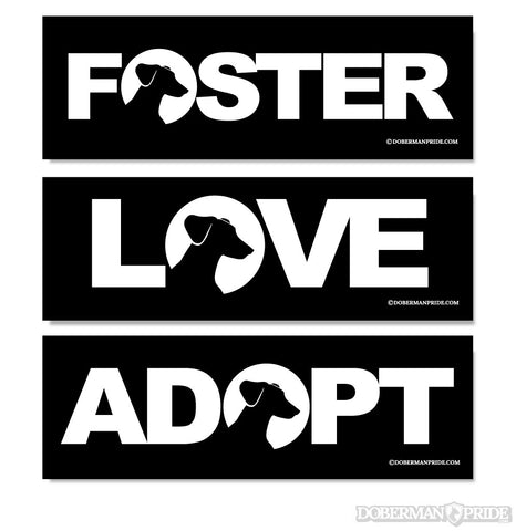 Love Foster Adopt Stickers