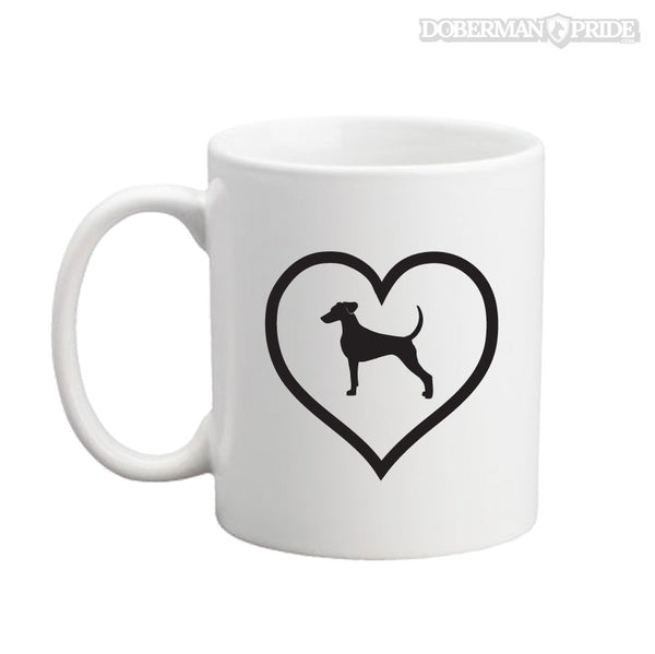 Heart On Coffee Mug