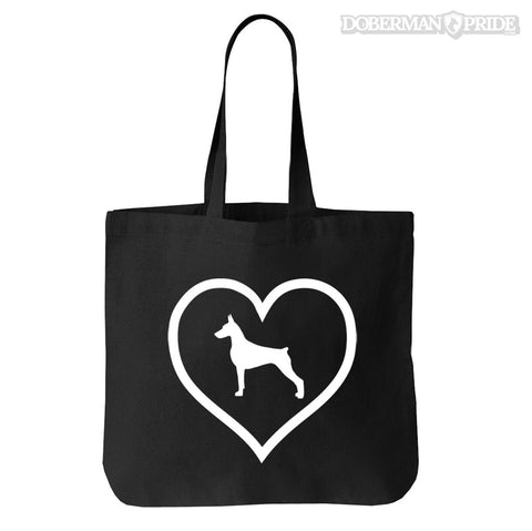 Heart On Tote Bag, OS