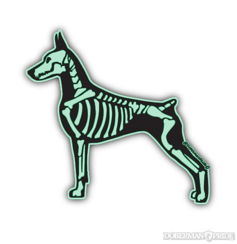 Glow-in-the-dark Bones Sticker
