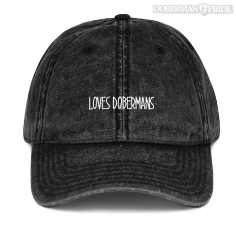 Loves Dobermans Dad Hat