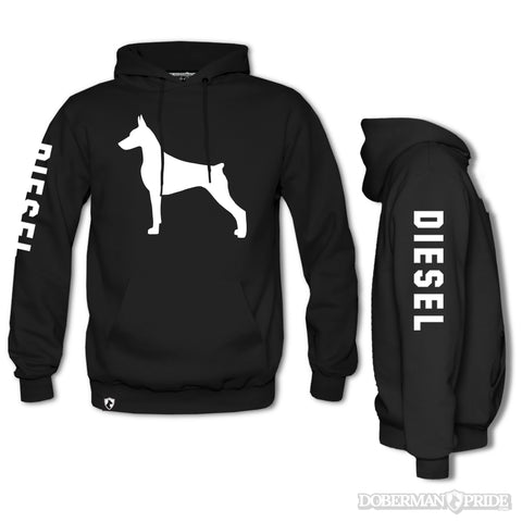 Custom Name Shadow Mens Hoodie