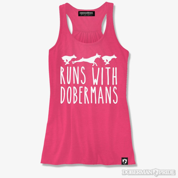 Runs With Dobermans Womens Tank
