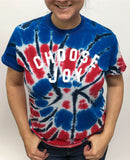 CHOOSE JOY Unisex Patriotic Tie-Dye Tee