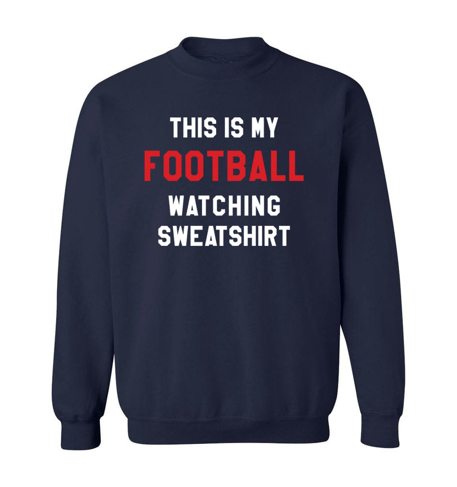 THIS IS MY FOOTBALL WATCHING SWEATSHIRT - Navy & Red