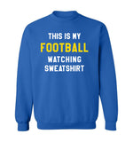 THIS IS MY FOOTBALL WATCHING SWEATSHIRT - Royal Blue & Gold
