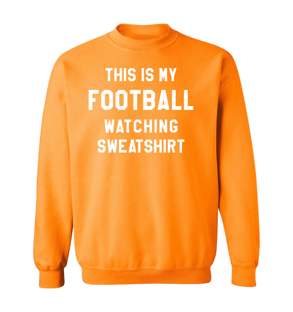 THIS IS MY FOOTBALL WATCHING SWEATSHIRT - Tangerine Orange