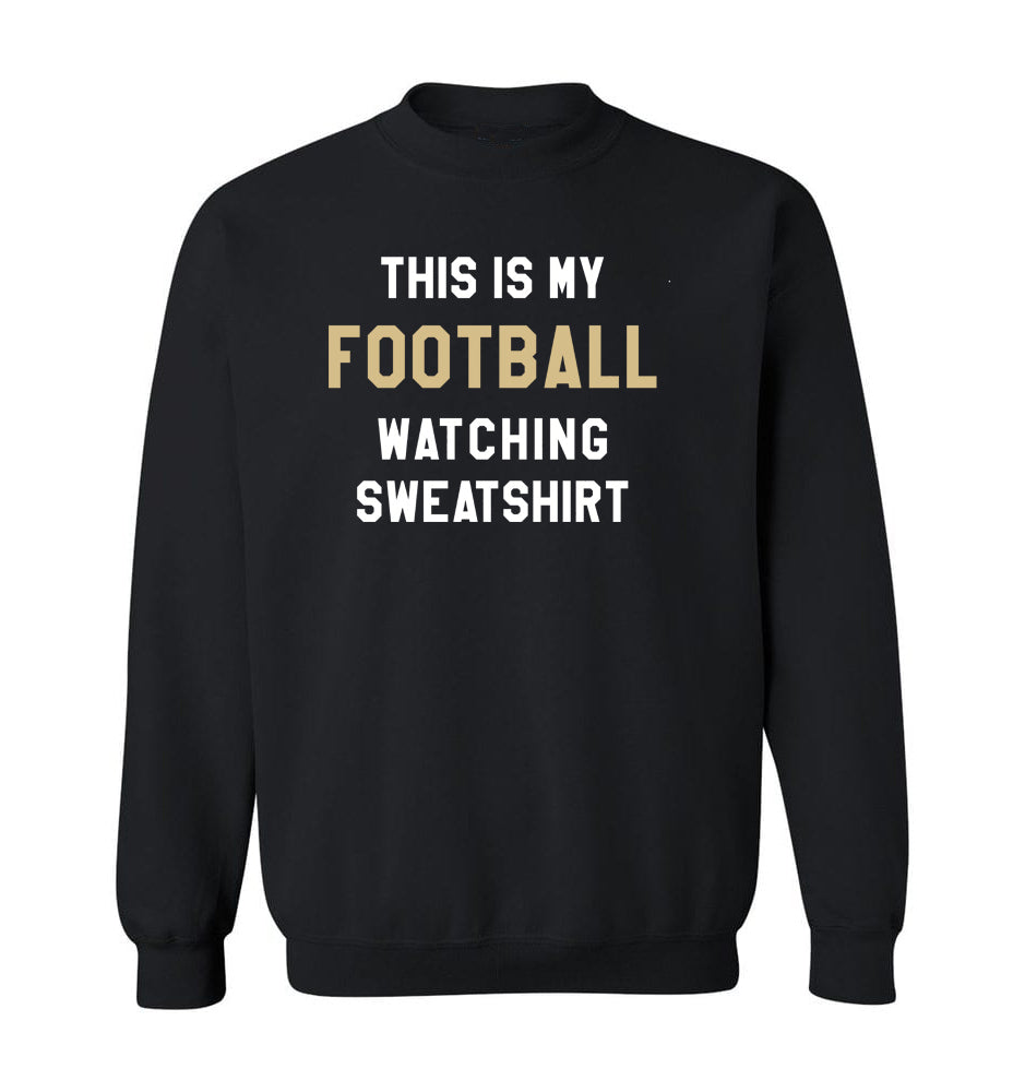 THIS IS MY FOOTBALL WATCHING SWEATSHIRT - Black & Tan