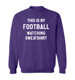 THIS IS MY FOOTBALL WATCHING SWEATSHIRT - Purple & White