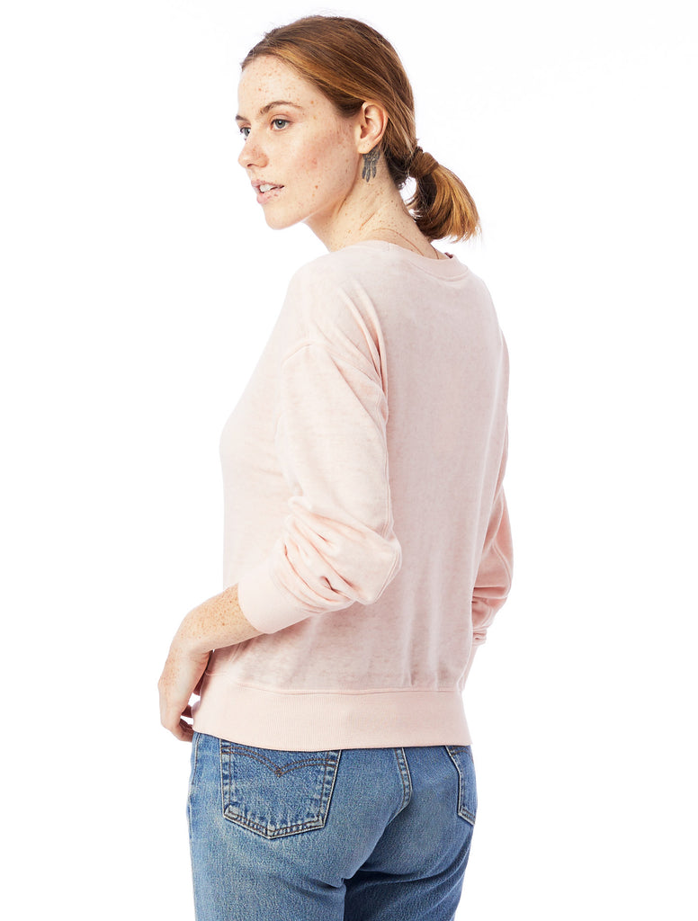 CHOOSE JOY Women's Cropped Pullover - Peach