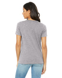 GIRL MOM V-Neck Women's T-Shirt - Grey & Coral