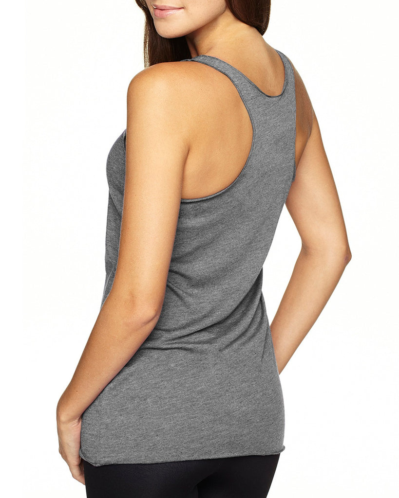 #PIMPINJOY Retro Repeat Women's Tank - Grey + Red