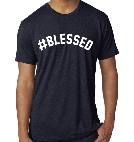 #BLESSED T-Shirt - Navy