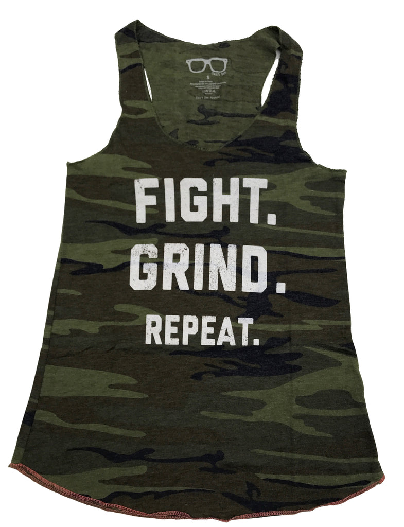 FIGHT. GRIND. REPEAT. Women's Tank - Camouflage
