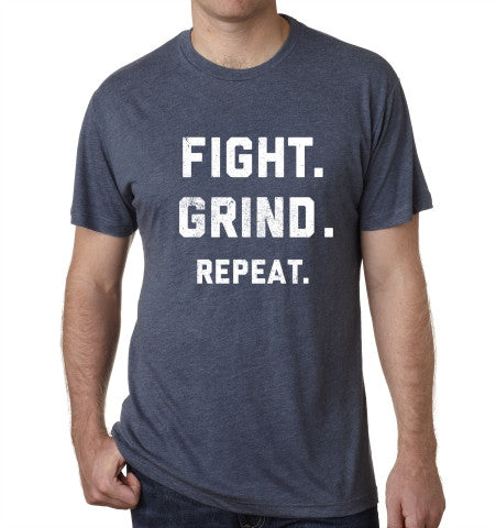 FIGHT. GRIND. REPEAT. T-Shirt - Indigo Blue