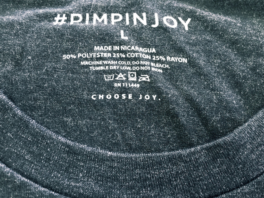 Adult #PIMPINJOY T-Shirt - Black