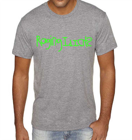 Raging Idiots T-Shirt - Gray / Neon Green