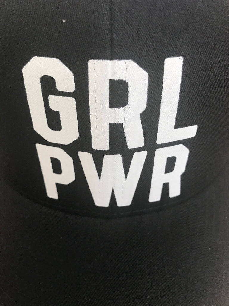 GRL PWR Hat - Black & White