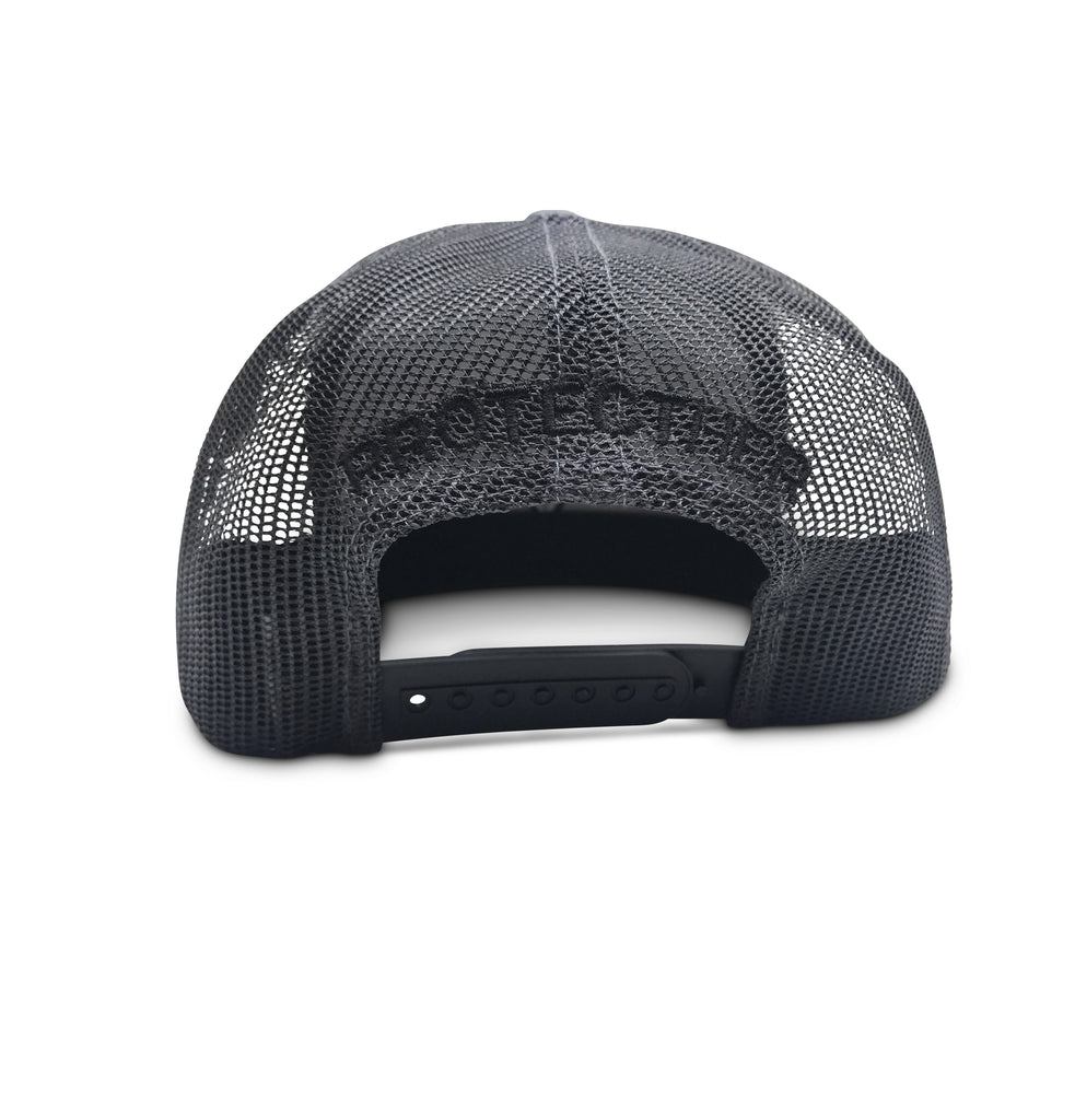 ProtectHer Trucker Hat - Charcoal & Black