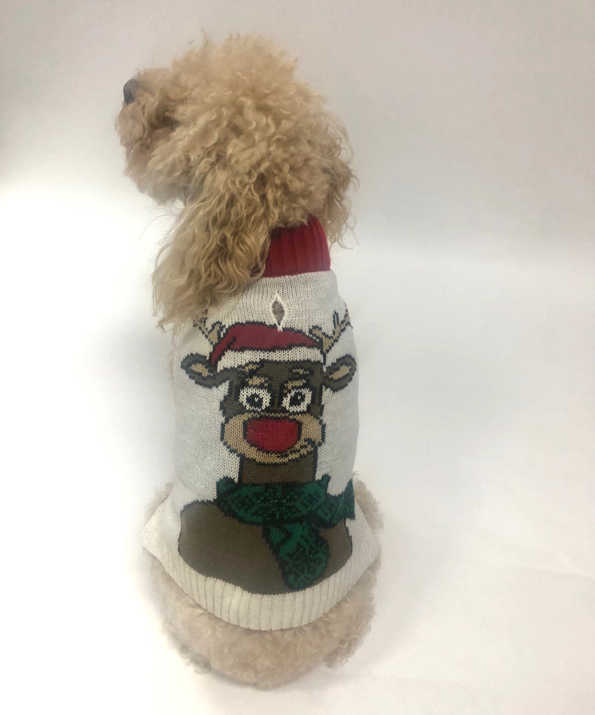 Ugly Christmas Dog Sweater - *Light Up* Reindeer