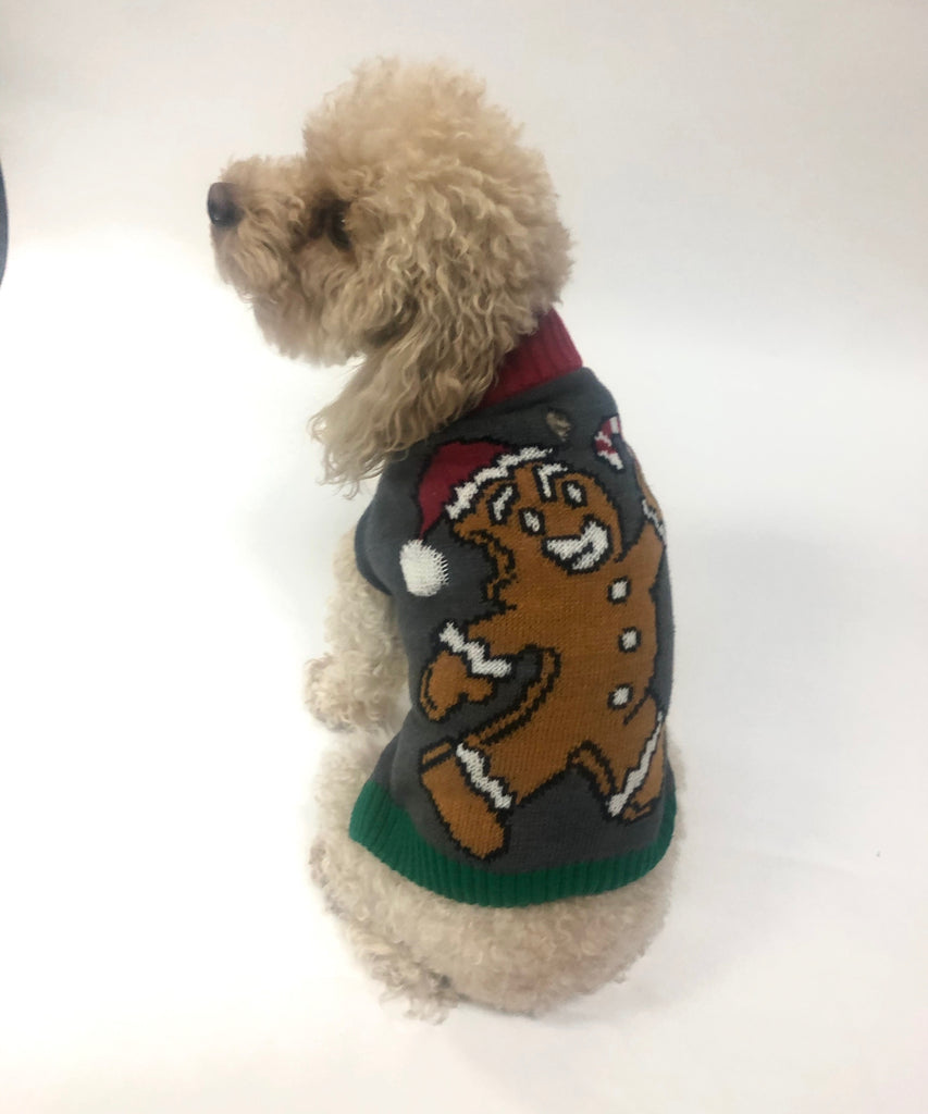 Ugly Christmas Dog Sweater - *Light Up* Gingerbread