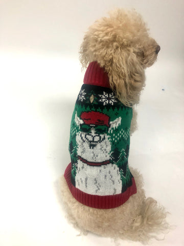 Ugly Christmas Dog Sweater - *Light Up* Llama