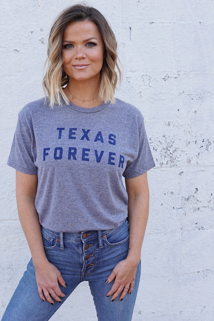 TEXAS FOREVER® Unisex T-Shirt - Grey + Navy