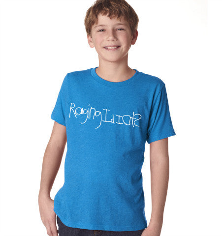 Kids Raging Idiots T-Shirt - Blue