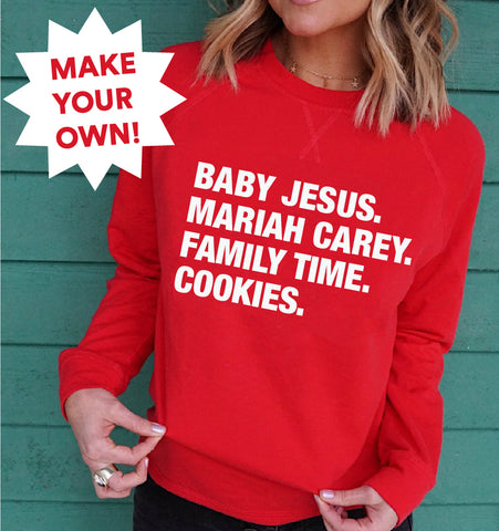 4 THINGS® Personalized Christmas Lightweight Pullover (Custom Pre-Order)