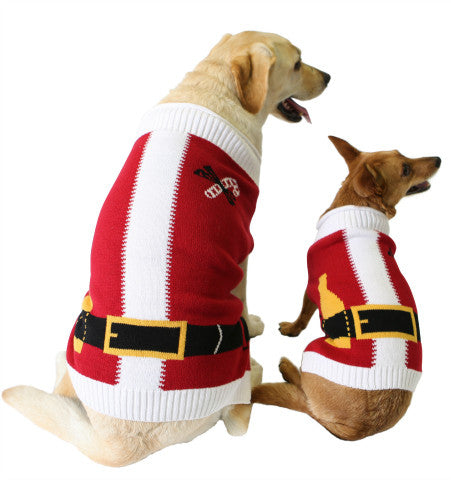 Ugly Christmas Dog Sweater - Santa Suit