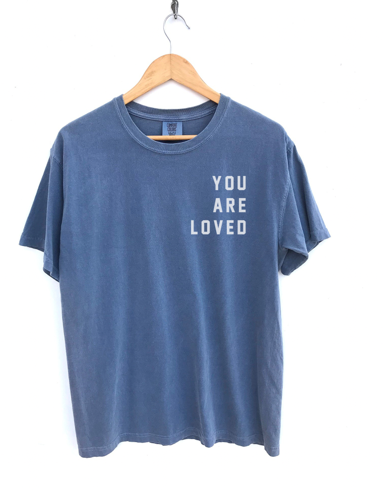 YOU ARE LOVED Unisex Relaxed Fit T-Shirt - Faded Blue