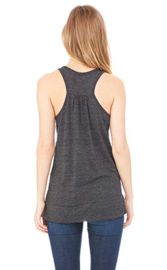 CHOOSE JOY Women's Racerback Tank - Charcoal