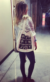 #PIMPINJOY Canvas Black Tote