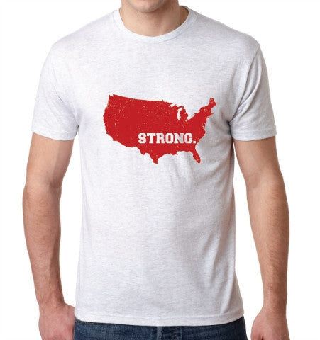 U.S.A. STRONG T-Shirt - White Heather