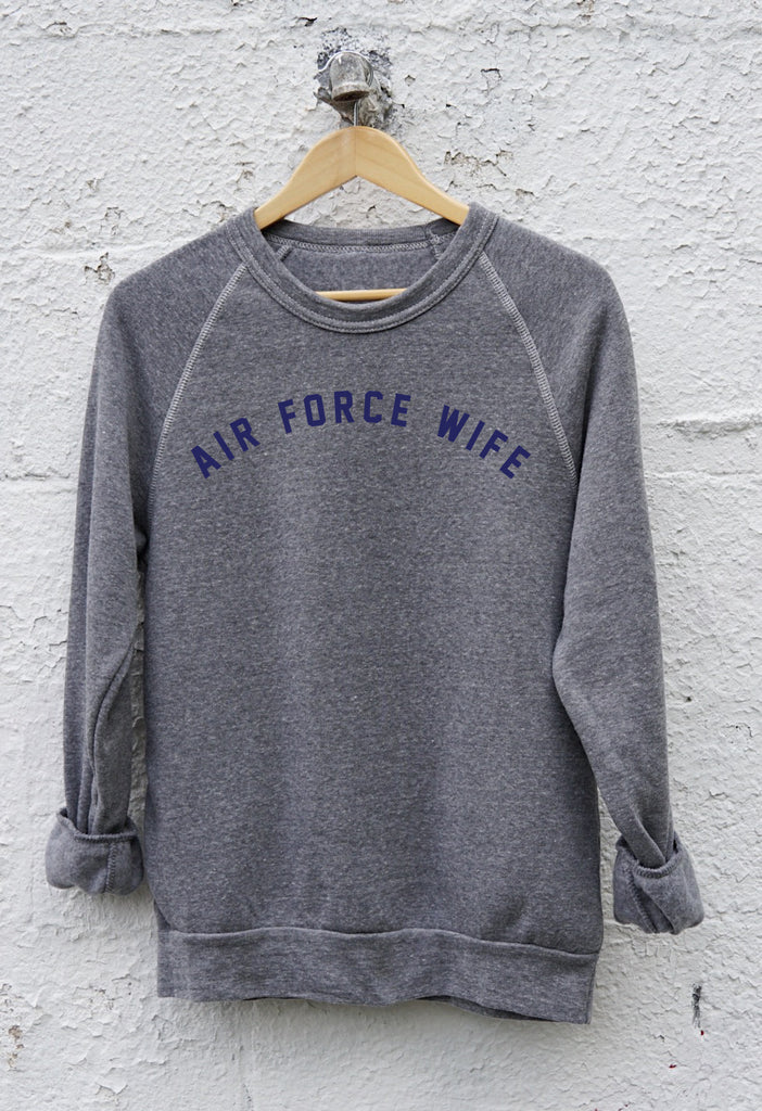 AIR FORCE WIFE Pullover Sweatshirt