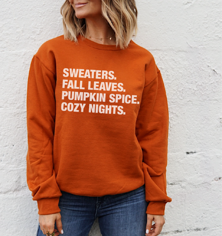 4 THINGS® Fall Pullover - Burnt Orange