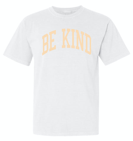 BE KIND Unisex T-Shirt - White + Peach