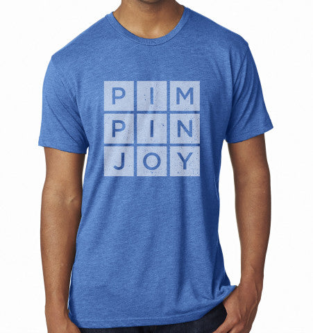 Adult #PIMPINJOY T-Shirt - Blue