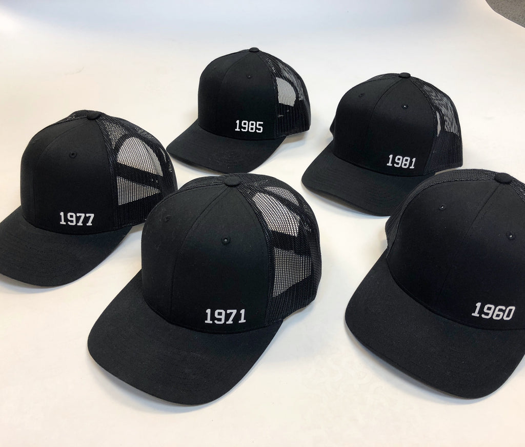 Born Year™ Hat - Black (Choose Your Year!)