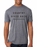 'COUNTRY GIVES BACK' Unisex T-Shirt