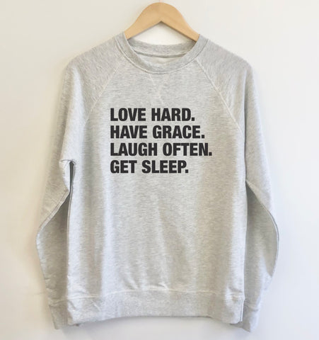 4 Things® DAILY MANTRA Lightweight Pullover - Oatmeal Grey