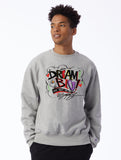 DREAM BIG Champion Grey Unisex Pullover by King Saladeen