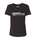 Woody Show 'Los Mas Chingones' Women's V-Neck - Black