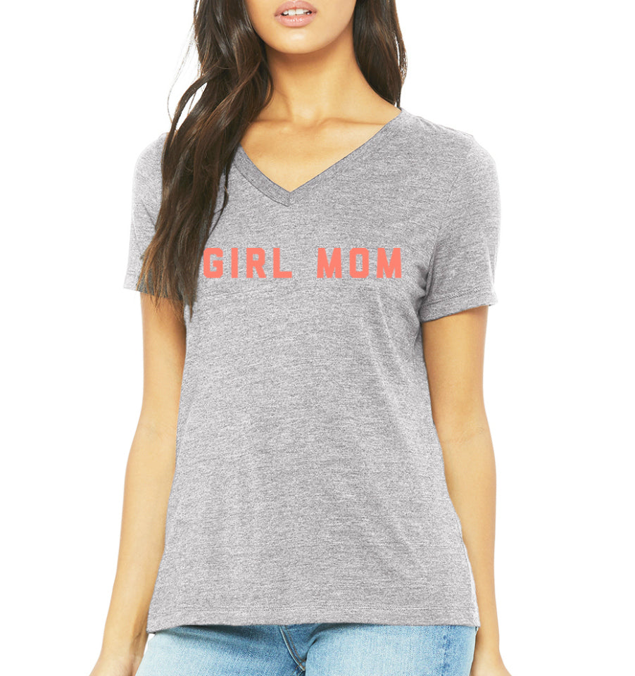 GIRL MOM V-Neck Women