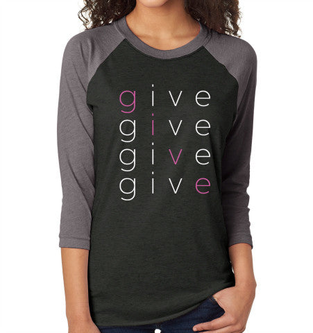 'GIVE' givetwig Baseball Tee
