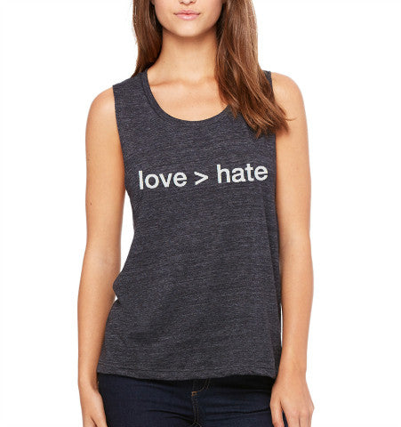 'love > hate' Women's Tank- Black