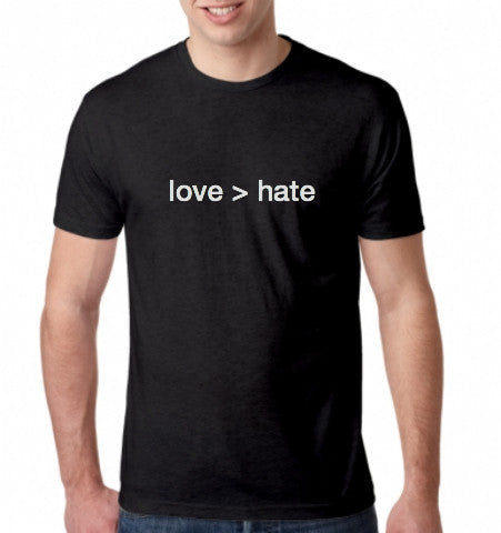 'love > hate' T-Shirt - Black