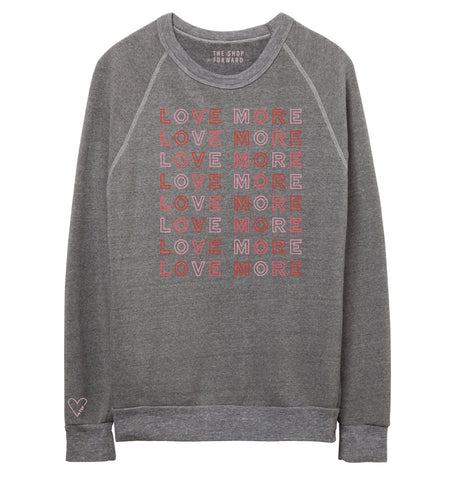 LOVE MORE Repeat Pullover - Grey Multi