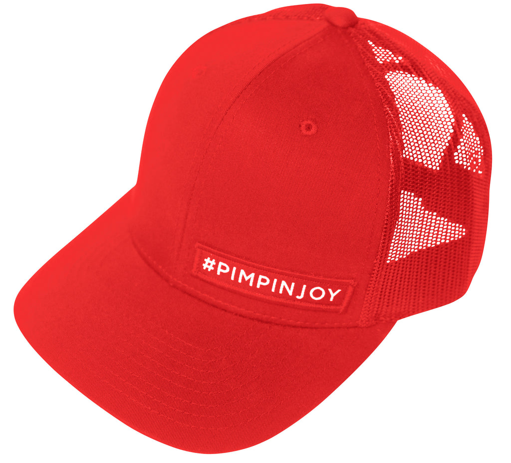 Red #PIMPINJOY Hat